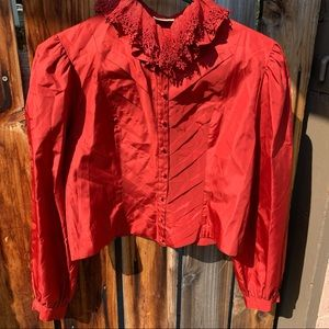 Tokyo Blouse Red Vintage Size Small